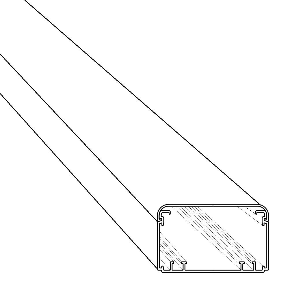 2m kopos kabelkanal eke 100x60 hd weiß | kopos | kabelkanal
