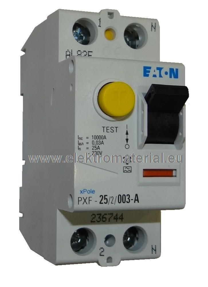 Moeller / Eaton FI Schutzschalter 25A 30mA 2-pol   Moeller / Eaton ...