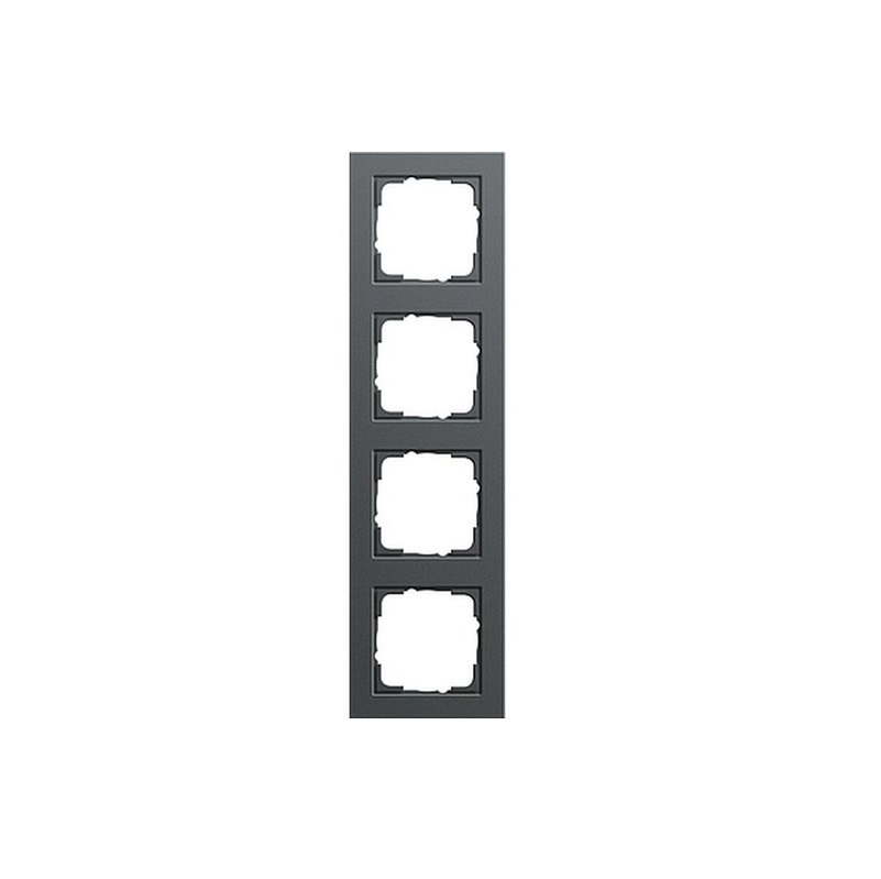 gira 4 fach rahmen e2 anthrazit 021423 e2 rahmen gira. Black Bedroom Furniture Sets. Home Design Ideas